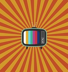 Retro vintage television flat design vector
