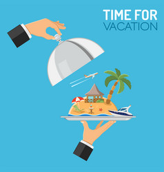 vacation and trip concept vector image vector image