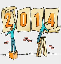 2014 Sign Men Art vector image
