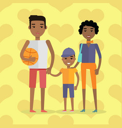 african black people afro american family vector image