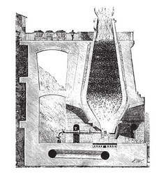 blast furnace vintage vector image