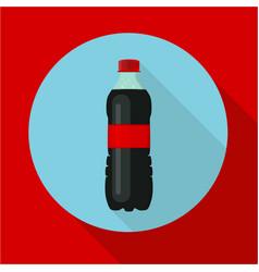 Bottle of soda water cola bottle tasty refreshing vector