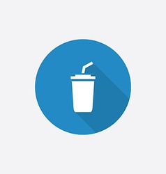 coffee Flat Blue Simple Icon with long shadow vector image vector image