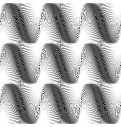 Design seamless monochrome wave background vector image vector image