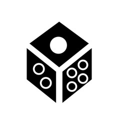 dice - game cube icon black vector image vector image