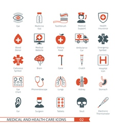 Medical and Health Care Icons Set 02 vector image vector image