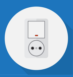 of electrical symbol on switch vector image