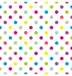 Tile polka dots background pattern or wallpaper vector image