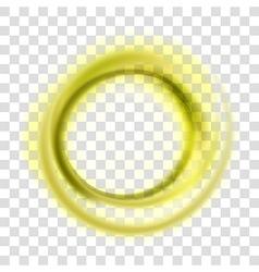 Yellow circle vector image vector image