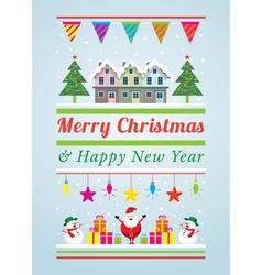 Christmas Decoration Characters and Objects vector image