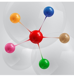 color balls infographic vector image vector image
