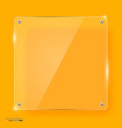 empty transparent glass framework vector image