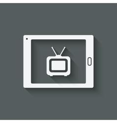 online tv symbol vector image