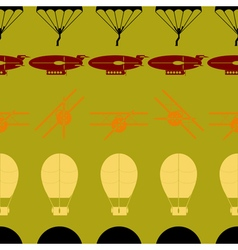 seamless background with parachute aircraft airs vector image vector image