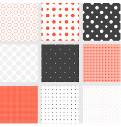 seamless pattern polka dot collection vector image vector image