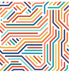 striped colorful seamless geometric pattern vector image vector image