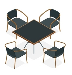 Table with chairs for cafes Modern table and vector image vector image
