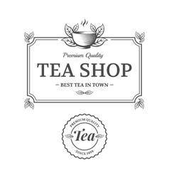 Tea shop vector image vector image