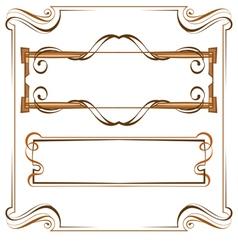 Vintage beautiful elegant frame Set of elements vector image vector image