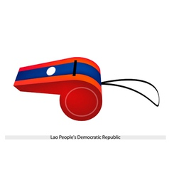 A Whistle of Lao Peoples Democratic Republic vector image