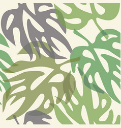 Abstract leaves on a seamless pattern wallpaper vector