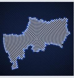 Abstract map bangkok glowing radial dots vector