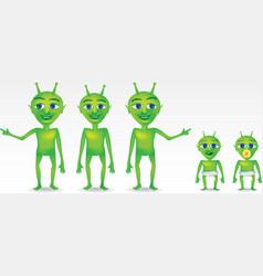 Alien Characters vector image