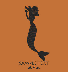 Ancient greece mermaid carrying an amphora vector
