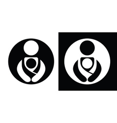 Babywearing Symbols Set With Parent vector