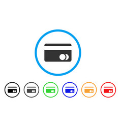 Banking card rounded icon vector