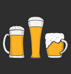 beer glass mug or bottle vector image