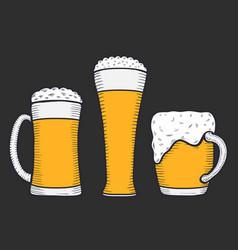 beer glass mug or bottle vector image