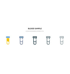 Blood sample icon in different style two colored vector