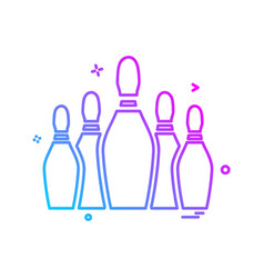 bowling icon design vector image