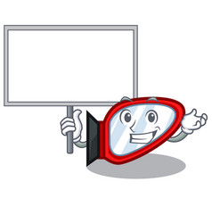 bring board side mirror isolated with the vector image