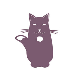 cartoon dreaming cat funny cool character vector image