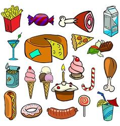 Cartoonish food vector image