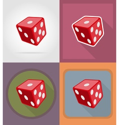 casino flat icons 02 vector image