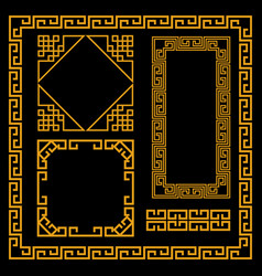 chinese decorative frame vector image