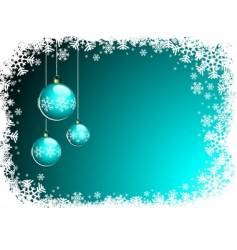 christmas illustration with blue glass vector image