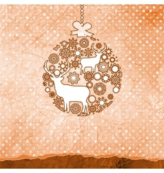 Christmas Reindeer Bauble vector image