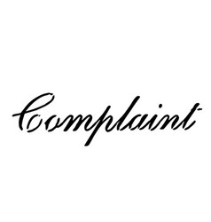 Complaint stamp on white background vector