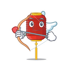 Cute chinese lantern cupid cartoon character vector