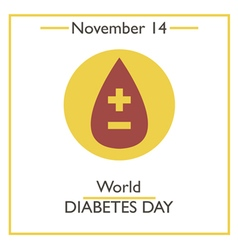 Diabetes Day vector image