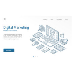 Digital marketing campaign seo optimization vector