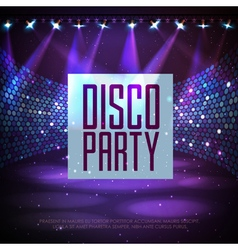 Disco abstract background vector image