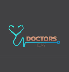 doctors day icon design medical logo vector image
