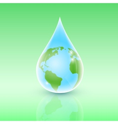 drop of earth vector image