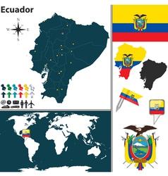 Ecuador map world vector