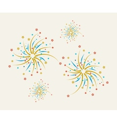 Fireworks design on a light background vector image